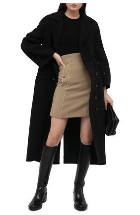 Женская шерстяная юбка DOLCE & GABBANA бежевого цвета, арт. F4BRQT/FU2C0 | Фото 2