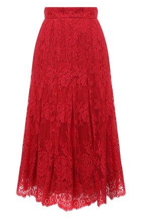 Женская юбка DOLCE & GABBANA красного цвета, арт. F4BR5T/HLMJ8 | Фото 1
