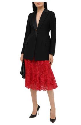 Женская юбка DOLCE & GABBANA красного цвета, арт. F4BR5T/HLMJ8 | Фото 2