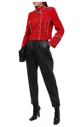 Женский шерстяной жакет DOLCE & GABBANA красного цвета, арт. F28TET/FU2C0 | Фото 2