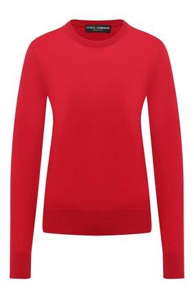 Женская шерстяной пуловер DOLCE & GABBANA бордового цвета, арт. FX824T/JAVVY | Фото 1