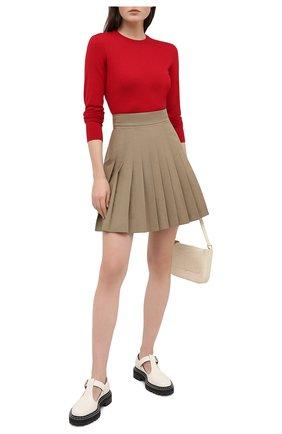 Женская шерстяной пуловер DOLCE & GABBANA бордового цвета, арт. FX824T/JAVVY | Фото 2