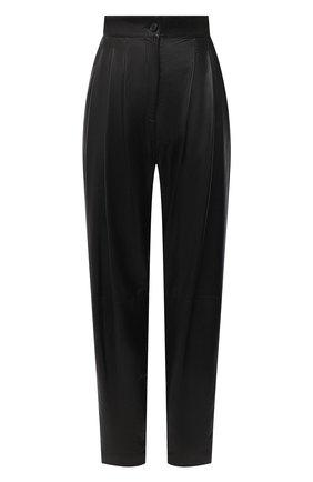 Женские кожаные брюки DOLCE & GABBANA черного цвета, арт. FTBYEL/HULJ7 | Фото 1