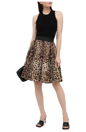Женская хлопковая юбка DOLCE & GABBANA коричневого цвета, арт. F4B00T/HS5E3 | Фото 2
