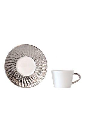 Кофейная чашка с блюдцем Twist Platine | Фото №2