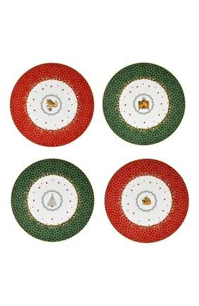 Набор Noel Blanc из 4-х десертных тарелок  | Фото №1