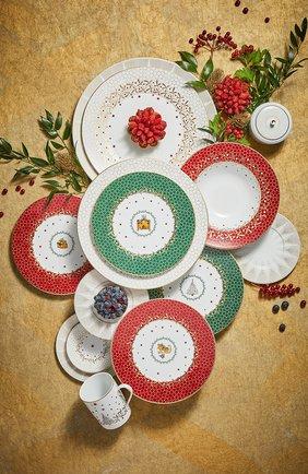 Тарелка салатная Cheminee Noel Vert | Фото №2