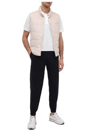 Мужское хлопковое поло RALPH LAUREN белого цвета, арт. 790508036 | Фото 2
