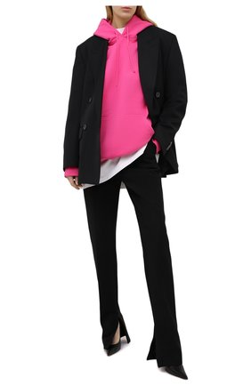 Женский хлопковое худи VETEMENTS фуксия цвета, арт. UE51TR730P 1604/W | Фото 2