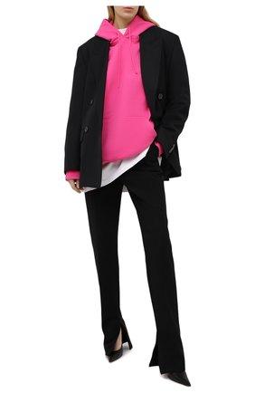 Женская хлопковое худи VETEMENTS фуксия цвета, арт. UE51TR730P 1604/W | Фото 2