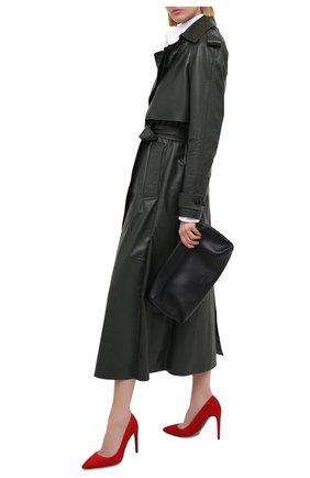 Женские замшевые туфли RALPH LAUREN красного цвета, арт. 800838024 | Фото 2