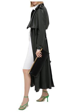 Женские кожаные босоножки the stretch BOTTEGA VENETA зеленого цвета, арт. 608835/VBSF0 | Фото 2