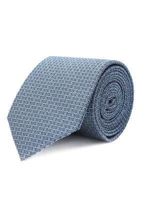 Мужской шелковый галстук HUGO темно-синего цвета, арт. 50447343 | Фото 1