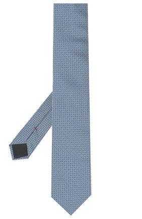 Мужской шелковый галстук HUGO темно-синего цвета, арт. 50447343 | Фото 2