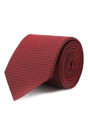 Мужской шелковый галстук HUGO красного цвета, арт. 50447336 | Фото 1