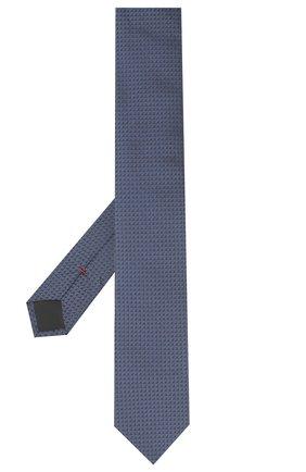 Мужской шелковый галстук HUGO темно-синего цвета, арт. 50447336 | Фото 2