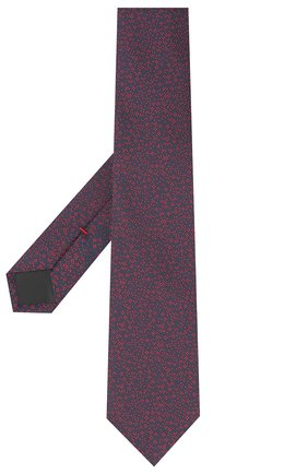 Мужской шелковый галстук HUGO темно-синего цвета, арт. 50447339 | Фото 2
