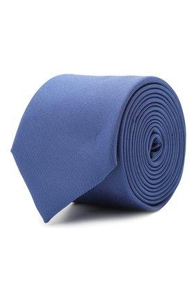 Мужской шелковый галстук BOSS синего цвета, арт. 50447075 | Фото 1 (Материал: Текстиль, Шелк; Принт: Без принта)