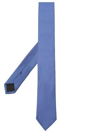 Мужской шелковый галстук BOSS синего цвета, арт. 50447075 | Фото 2 (Материал: Текстиль, Шелк; Принт: Без принта)