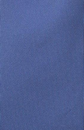 Мужской шелковый галстук BOSS синего цвета, арт. 50447075 | Фото 3 (Материал: Текстиль, Шелк; Принт: Без принта)