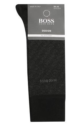 Мужские хлопковые носки BOSS черного цвета, арт. 50442791 | Фото 1