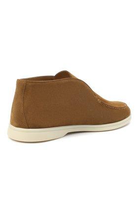 Мужские замшевые ботинки open walk LORO PIANA светло-коричневого цвета, арт. FAB4368 | Фото 4