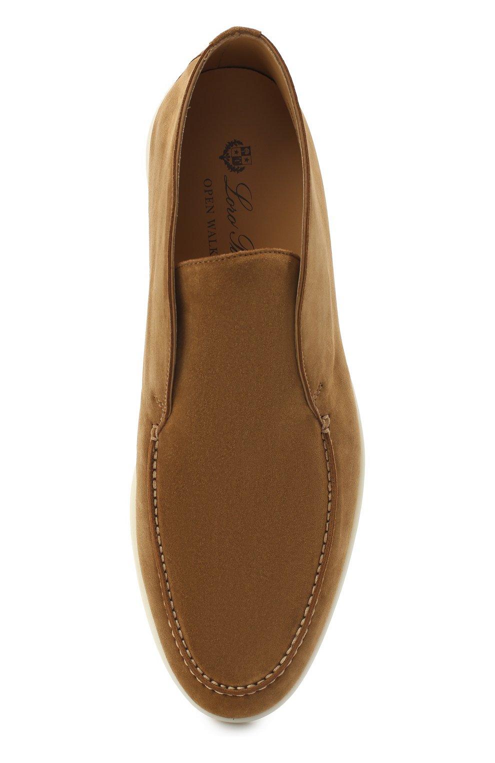 Мужские замшевые ботинки open walk LORO PIANA светло-коричневого цвета, арт. FAB4368 | Фото 5