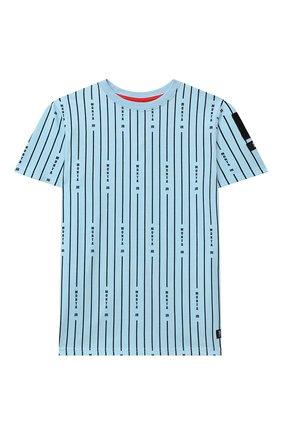 Детская хлопковая футболка MONTA JR голубого цвета, арт. TAYL0R   Фото 1