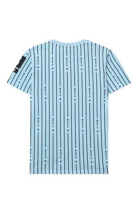 Детская хлопковая футболка MONTA JR голубого цвета, арт. TAYL0R   Фото 2