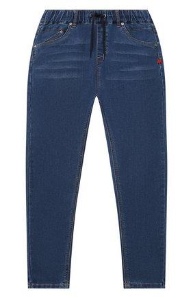 Детские джинсы MONTA JR голубого цвета, арт. PELLE | Фото 1 (Материал внешний: Хлопок; Ростовка одежда: 12 лет | 152 см, 13 - 15 лет | 158 см, 5 лет | 110 см, 7 лет | 122 см, 9 лет | 134 см)