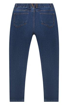 Детские джинсы MONTA JR голубого цвета, арт. PELLE | Фото 2 (Материал внешний: Хлопок; Ростовка одежда: 12 лет | 152 см, 13 - 15 лет | 158 см, 5 лет | 110 см, 7 лет | 122 см, 9 лет | 134 см)