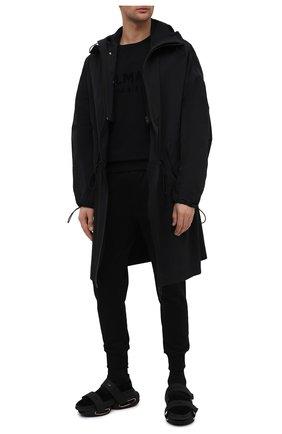 Мужской хлопковый свитшот BALMAIN черного цвета, арт. VH1JQ005/B042 | Фото 2
