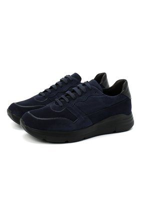 Мужские замшевые кроссовки CAMERLENGO темно-синего цвета, арт. Z15593VIENNA579 | Фото 1