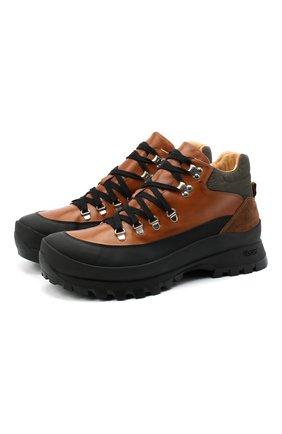 Мужские кожаные ботинки CAMERLENGO коричневого цвета, арт. Z15642GUMNE730/MURAN0 | Фото 1