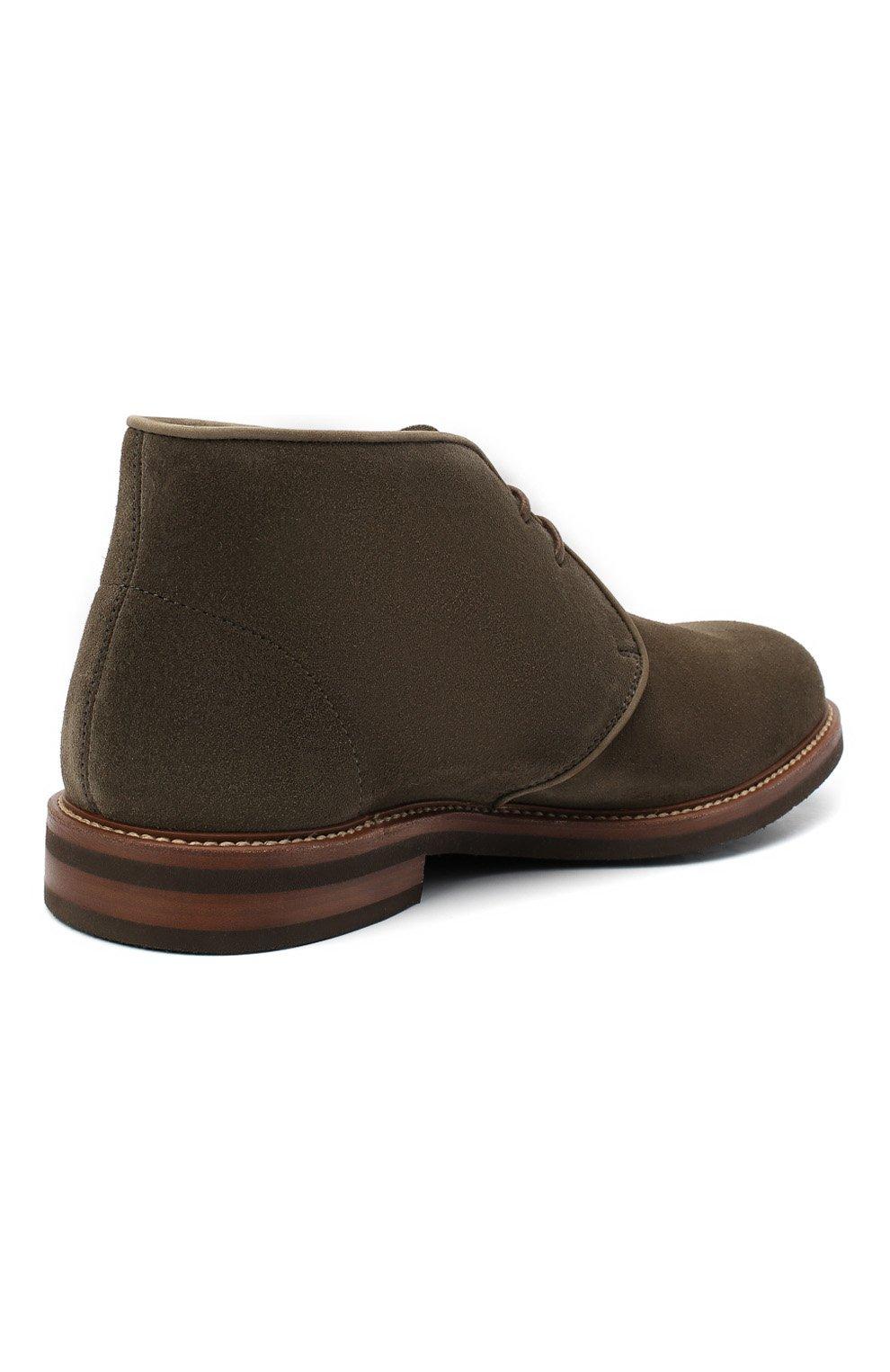 Мужские замшевые ботинки BRUNELLO CUCINELLI хаки цвета, арт. MZUKUDK192 | Фото 4