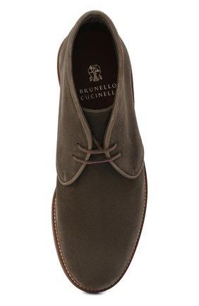 Мужские замшевые ботинки BRUNELLO CUCINELLI хаки цвета, арт. MZUKUDK192 | Фото 5
