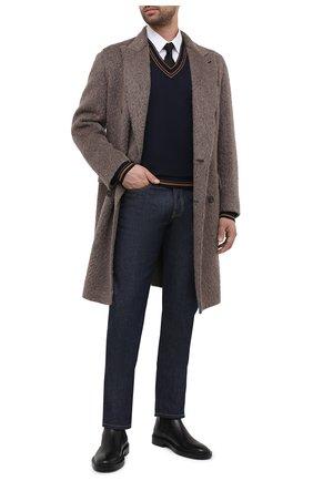 Мужской шерстяной пуловер DOLCE & GABBANA темно-синего цвета, арт. GXB33T/JAVWZ | Фото 2