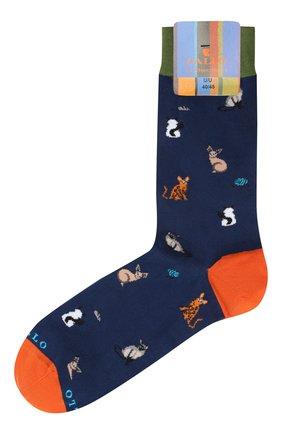 Мужские хлопковые носки GALLO синего цвета, арт. AP511086 | Фото 1