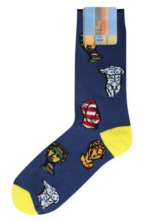 Мужские хлопковые носки GALLO синего цвета, арт. AP510697 | Фото 1