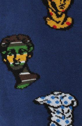 Мужские хлопковые носки GALLO синего цвета, арт. AP510697 | Фото 2
