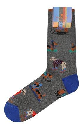 Мужские хлопковые носки GALLO серого цвета, арт. AP510609 | Фото 1