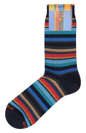 Мужские носки из смеси хлопка и кашемира GALLO синего цвета, арт. AP102853 | Фото 1