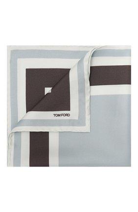 Мужской шелковый платок TOM FORD синего цвета, арт. 9TF92/TF312 | Фото 1