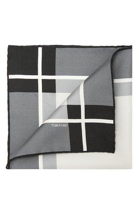 Мужской шелковый платок TOM FORD серого цвета, арт. 9TF93/TF312 | Фото 1