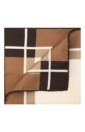 Мужской шелковый платок TOM FORD коричневого цвета, арт. 9TF93/TF312 | Фото 1
