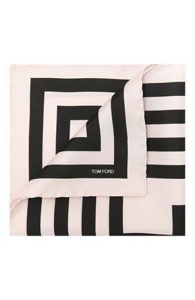 Мужской шелковый платок TOM FORD розового цвета, арт. 9TF95/TF312 | Фото 1