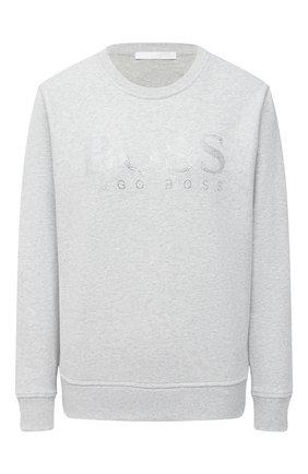 Женская хлопковый свитшот BOSS серого цвета, арт. 50442497 | Фото 1