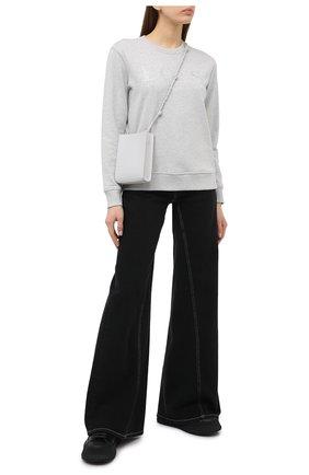 Женская хлопковый свитшот BOSS серого цвета, арт. 50442497 | Фото 2