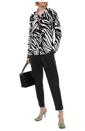Женская шелковая блузка BOSS черно-белого цвета, арт. 50445582 | Фото 2