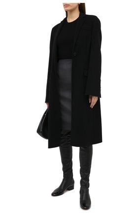 Женская шерстяная юбка BOSS серого цвета, арт. 50446600 | Фото 2